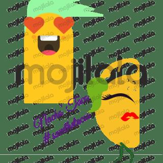 #savethetacos cute Nacho, Taco, and Ole' emojis