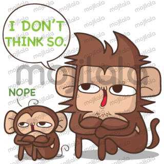Juppy the Monkey's sticker collection