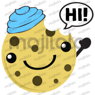 cute chocolate chip cookie at your service