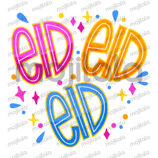 General Eid Stickers in Arabic & English