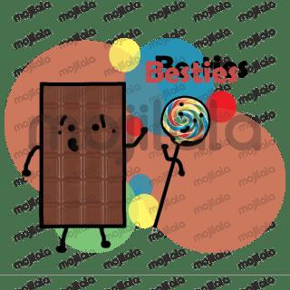 Cute chocolate sticker pack