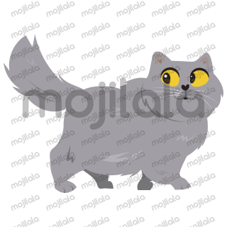 Fluffy, furry, and cute cat stickers of the Instagram cat @panther.cat