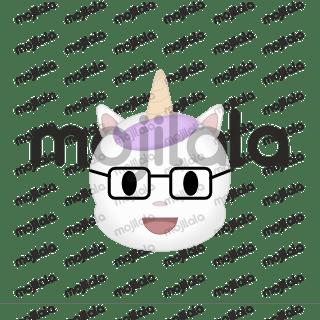 Éste es Youni, un gato unicornio o un unicornio gato.