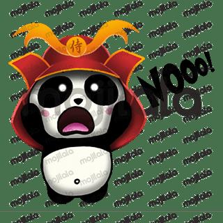 Born in China, raised in Japan... A Panda, Samurai Panda! :) Very cute! Have fun with him!