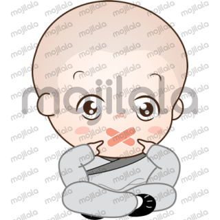 Cute little monks to energize your chats with positive energy.