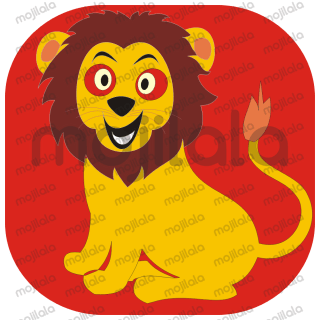 My emoji is a lion who is undoubtedly brave but the particular expressions are shown as fearful and cheerful, it can be used when a person is brave but due to some untoward incident he becomes fearful and when do good for someone he becomes cheerful