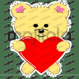 Cute bear expressing emotions