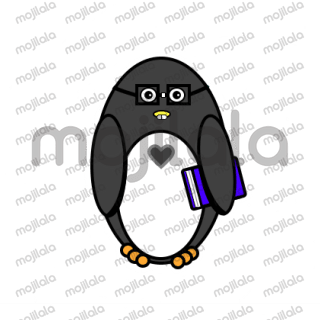 Funny penguin expressing his emotions