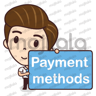 A salesman character for online shops with many common selling activities.