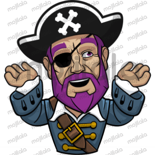 Awesome pirate Captain Messapps with Baker's dozen different emotions.