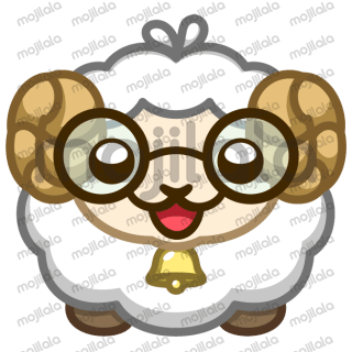 Adorable sheep to make your conversations cute. Perfect for everyday use!