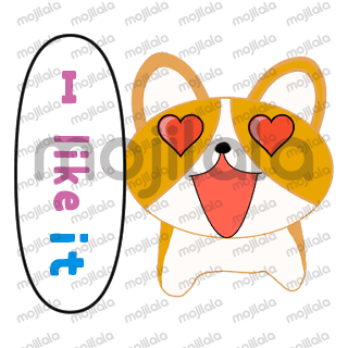 This is a set of stickers of a simple Welsh Corgi.