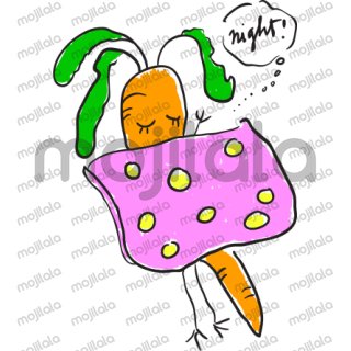 A carrot called Chee with all her ups and downs. Her bff is a radish called Cookai.