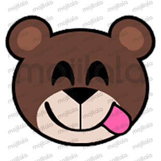 80 emojis of cute little bear! :) Have fun with them!