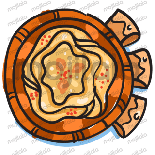 Add a little Lebnese mezza yummy-ness to your iMessage chats, by using this colorful assortment of Lebanese mezza food stickers.