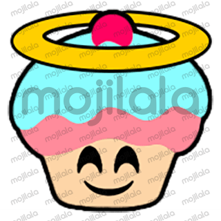 80 emojis of cute little cupcake! :) Have fun with them!
