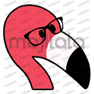 80 emojis of cute little flamingo! :) Have fun with them!
