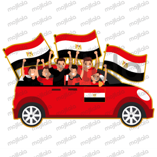A pack of stickers for Egypt football fans.
