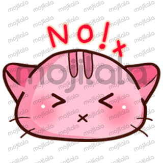 let's talk to your friends with Pink neko sticker !! Her name is Yu-nyan meow