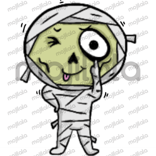 Cute Mummy cartoon emoji