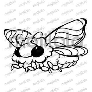 Cure the world of entomophobia by spreading pictures of this fuzzy little moth.