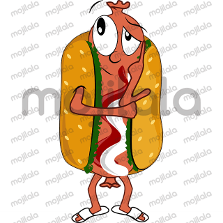 Impressions from real life by sausage of hot-dog.