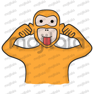 Set of a monkey Sticker Set with Cute expressions. Original concepts. Cute Design style. Can be perfectly used for any chat app.