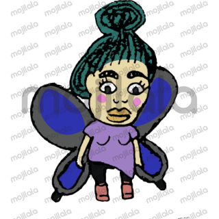 Butterfly girls stickers