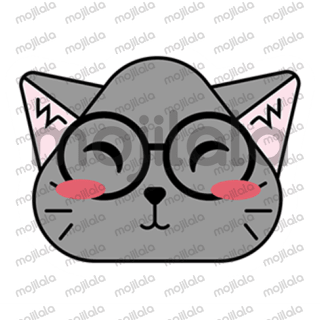 Meet Meow, a gray kitty in her fun and cute stickers with various emotions.