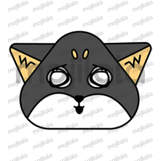 Meet Yami, a black and orange Shiba Inu puppy in his fun and cute stickers with various emotions.