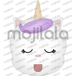 This is Youni, a cat unicorn or a unicorn cat.