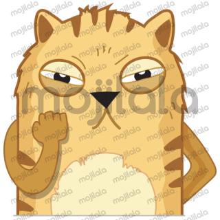 Cute cat stickers for your every emotion.