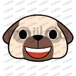 80 emojis of cute little pug! :) Have fun with them!