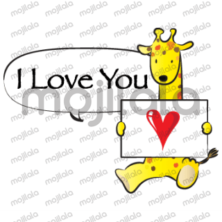 cute animals say: i love you every day