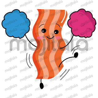 A set of hilarious bacon expressions for bacon lovers.