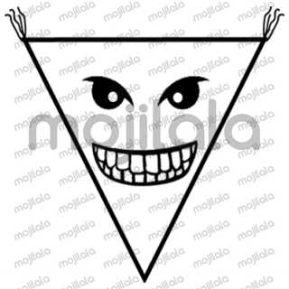 A peculiar character with a triangle shape head. His motto could be: 'I'm naturally funny because my life is a joke'