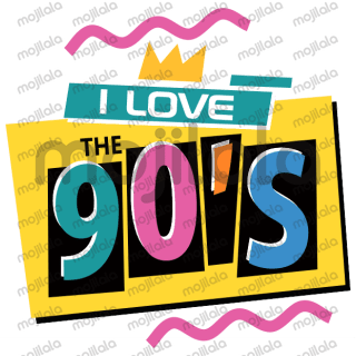 Take a journey back to the 90's with these funky stickers!