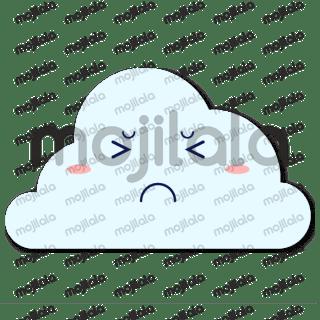 A cute cloud emoji.