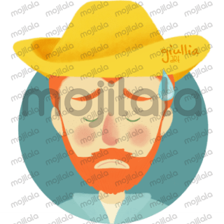 Vincent Van Gogh emoticon