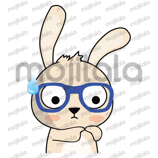 A cute and funny rabbit who wears spectacles.
