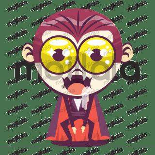 Emoji happy Dracula , to have a fun Halloween