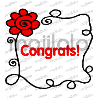 Red Flower Blessing card