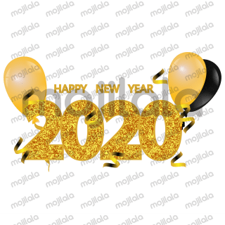Christmas 2019 and new year 2020 stickers for celebration.