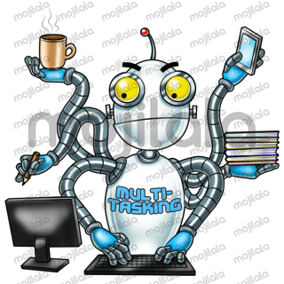 Boss Panda hired Robot, an android with embedded emotion chip, and put it in charge of all odd-works in the office.