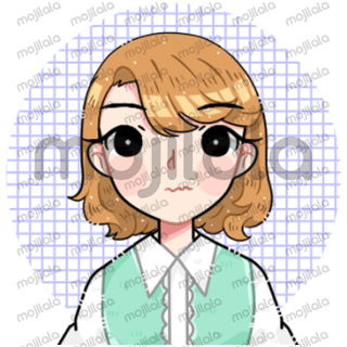 This is my visualization about my pen name Dhedebitha, a little girl with short wavy hair.