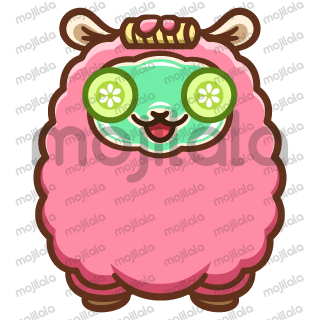 Cute pink alpaca sticker set. Perfect for daily conversations!