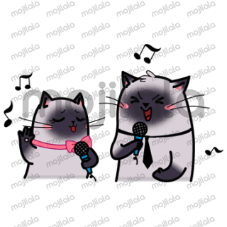 Samu and Sima - cute siamese cats. They walk, sing and have fun. On the sea. In the cafe. On the party. Join them!
