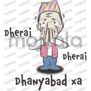 It's fully packed with local Nepalese conversation sticker just right for you!!