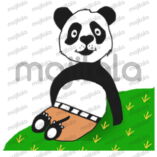 Panda with character with different emotions