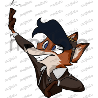 A bundle of sassy steampunk foxes, Eleanor and Rivet belong to me. There will be more added each month! I'd love to hear suggestions for stickers in the review section
